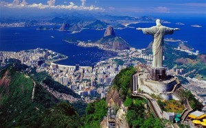 Rio de Janeiro's Christ the Redeemer  statue in Brazil