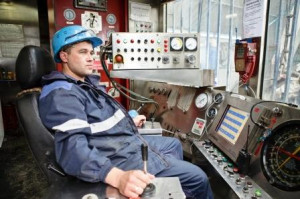 A Weathorford drill operator in Russia